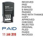 DATE STAMP, PAID, RECEIVED, POSTED, FAXED etc TRODAT 4850 SELF INKING RUBBER