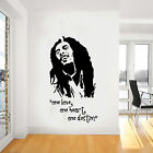 Bob Marley Wall Art, Iconic, Classic, Reggae, Vinyl Decal Sticker, WD004