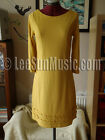 BODEN Jersey Circle Dress UK Size 6 8 10 12 14 GOLD *NEW* LMT CLASSIC RRP £89