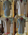 BODEN KNITTED DRESS - Spotty Chic Tunic UK 6 or UK 8 NEW Blue/Silver/Latte RARE