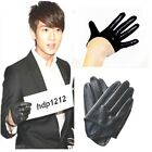 New 100% Real Leather Men's Fashion Five Fingers Gloves / Semi-Palm Gloves