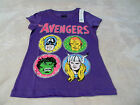 Girl's AvengersT-shirts~XS,S,M,L and XL~Purple ~Avengers On Front~With Glitter~