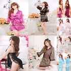 New Sexy sleepwear silk translucent nightgown lace temptation clothing Wife Gift