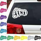 Yeti decal sticker car truck Sasquatch yeti Bigfoot big foot print window
