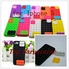 New LEGO Brick Block Style Silicone Phone Skin Case Cover for IPHONE 5 5G