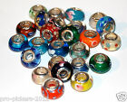NEW 925 Sterling Silver Core Murano Glass Cahrm Bead Your Choice of LOT L#2
