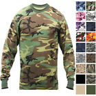 Tactical Camo Long Sleeve T-Shirt Military Camouflage Crew-Neck Tee Undershirt