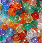 1000 Transparent Pony Beads ,Mixed or Single colour,FOR DUMMY CLIPS,BRADING