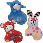 """Zanies Dog SILLY SQUAD Toy Squeaker Soft Plush Puppies Dogs Paw Print Pattern 5"""""""