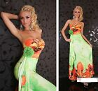 floral flower summer maxi dress long evening cocktail gown strap full 8/ 10 /12