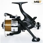 NGT EX60 4BB CARP FISHING BAIT RUNNER REELS TWIN HANDLE + 10LB LINE BRAND NEW!