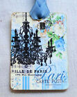 Hang Tags  FRENCH PARIS BLUE CHANDELIER TAGS or MAGNET #3  Gift Tags