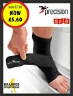 Precision Neoprene Ankle Support/Wrap with straps BLACK Size Small/Medium/Large