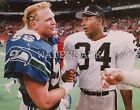 Bo Jackson & Brian Bosworth Post Game Rivals 8x10 Color Photo Raiders Football