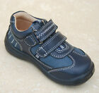 New Boys Start-rite Leather Rowdy Shoes New Navy - H width