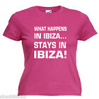 What Happens Ibiza Ladies Lady Fit T Shirt 13 Colours Size 6 - 16