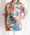 LOUD PATCHWORK HAWAIIAN MENS SHIRT palm trees/hibiscus STAG NIGHT SUMMER PARTY