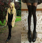Sexy Women Gipsy Mock Ribbed Over Knee Tight Thigh Pant High Legging Pantyhose