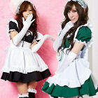 Sexy Wonderland Cosplay party Fancy Dress Uniform Ruffle Lolita Maid Outfit