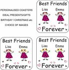 Personalised Friends Coaster Best Friends Christmas Birthday Gift/Present