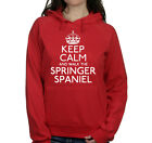 KEEP CALM AND WALK THE SPRINGER SPANIEL UNISEX PET DOG HOODIE WOMENS HOODY #301