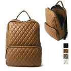 Unisex Classy Quilted Casual Backpack Campus school bag Genuine Cowhide Leather