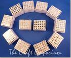 Alphabet Mini Rubber Stamps Letters wooden set of 30 from Dovecraft- HALF PRICE