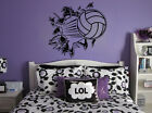 Volleyball Busting Through Wall Vinyl Wall Decal Sticker