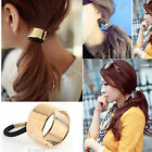 Silver/Golden Alloy Hair Ring Ponytail Elastic Holder Hair Cuff Band Headband