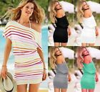 VICTORIA Off-The-Shoulder Sexy Ruched Tee Dresses Tunic Beach Top sz XS S M L XL