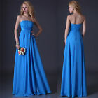 Unique Sexy Formal Prom Party Ball Cocktail Bridesmaid Gown Long Chiffon Dresses