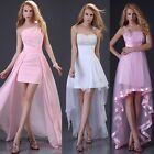 3 Style Women formal evening Mini dress short front long back fashion prom gown