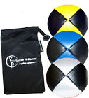 PRO Thud Juggling Balls - LEATHER Juggling Ball Set + FREE Bag -Supreme Quality!