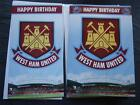 OFFICIAL~ WEST HAM UNITED FOOTBALL CLUB Birthday Card ~ with or without sound