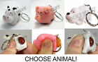 (1) Naughty Pooping Animal (KEY CHAIN ) Pig , Cow OR Dog Novelty Key Ring RM1804