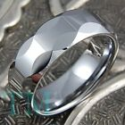 8mm Mens Tungsten Carbide Wedding Band Ring Shiny Titanium Color Size 6-15