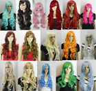 HOT SELL!Heat Resistant Mixed Curly Wavy Long Cosplay Wigs 80CM +GIFT