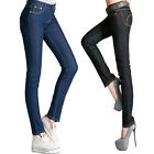 New Fashion Womens Ladies Jeans leggings Pencil Pants Stretch Mid Rise Trouser