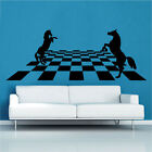 Horse Chess Decal Vinyl Wall Sticker Art Chess Gaming Check Mate