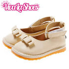 Girls Infant Toddler - Leather Squeaky Shoes - Cream Ankle Strap