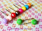 FUNKY M HAIR GRIPS SWEETS CANDY QUIRKY KITSCH PARTY GIRLS RETRO COOL NOVELTY FUN