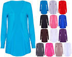 Womens New Plain Long Sleeves Ladies Front Open Stretch Boyfriend Cardigan Top