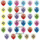 Pack Of 8 Birthday/ Anniversary Balloons Various Ages/Years, For Air Or Helium.