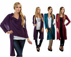 New CARDIGAN WRAP Teal/Purple/Burgundy Long PLUS SIZE Top XL/1X/2X/3X FREE SHIP