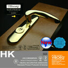 Top Quality Keyed Privacy Door Security Entry Mortise Lever Lock Set PVD Gold