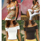 VICTORIA'S NEW WOMENS SMOCKED OFF-THE-SHOULDER TOPS HOT SEXY SUMMER BEACH TEES