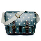 Fashion Double Buckle Polka Dot Oilcloth Backpack Cross Body Campus  School Bag