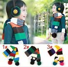 autumn winter toddle child boy girl colourful stripe warm knitting scarf shawl