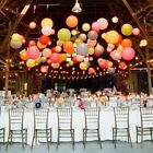 "20X Round Multi Paper Lanterns 8"",10"",12"",16"" Wedding Party with Led Light Decor"