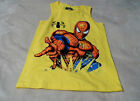 MARVEL Boys S (6-7) M (8) Muscle Tee Shirt Spiderman Yellow